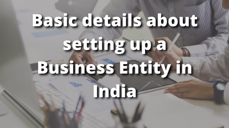 Basic details about setting up a Business Entity in India